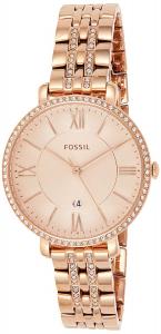 Ceas de dama Fossil, plin cu cristale LUX stralucitoare, Auriu rose, ES3546 [3]
