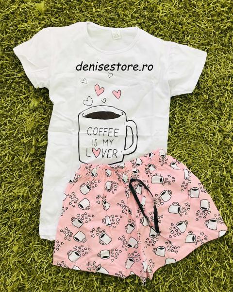 Pijama Coffee White Short 0