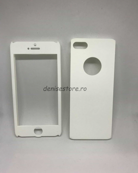 Husa 360 plastic alb iPhone 5/5s/SE 0
