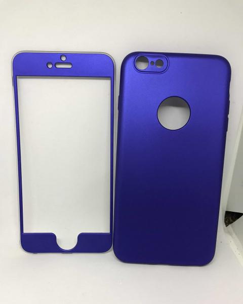 Husa 360 Silicon Albastru iPhone 6 Plus/ 6s Plus 0