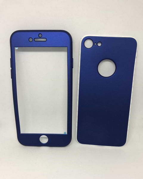 Husa 360 Silicon Albastru iPhone 7 / iPhone 8 0