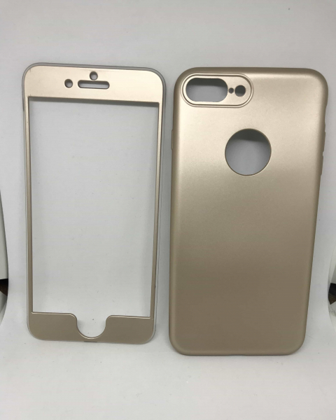 Husa 360 Silicon Gold iPhone 7 Plus / iPhone 8 Plus 0