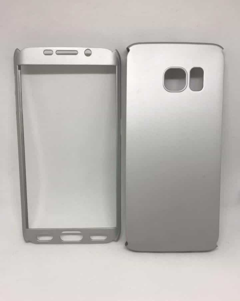 Husa 360 Plastic Silver Samsung Galaxy S6 Edge 0