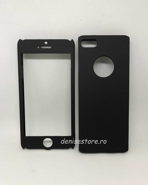 Husa 360 Plastic Negru iPhone 5/5s/SE [0]