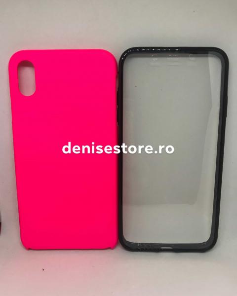 Husa 360 Pink Neon iPhone XS Max 0
