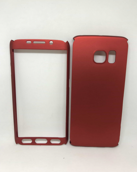 Husa 360 Plastic Rosu Samsung Galaxy S6 Edge 0