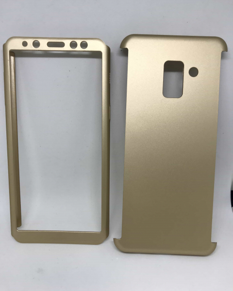 Husa 360 Plastic Gold Samsung Galaxy A8 2018 0