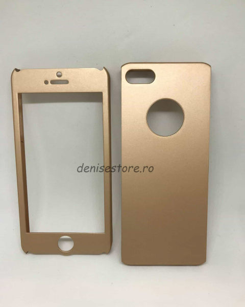 Husa 360 Plastic Gold iPhone 5/5s/SE 0