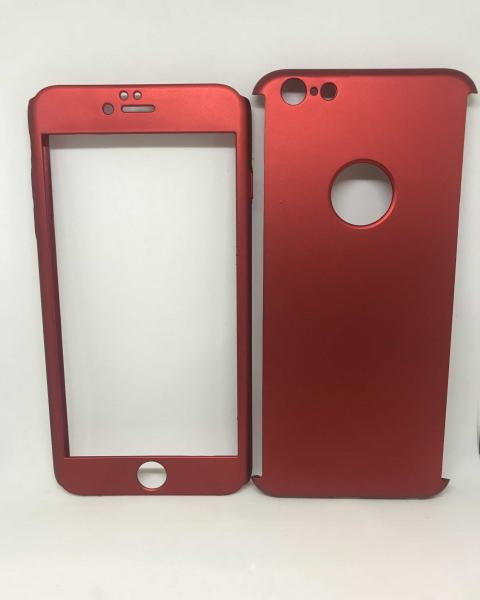 Husa 360 Plastic Rosu iPhone 6 Plus/ 6s Plus 0