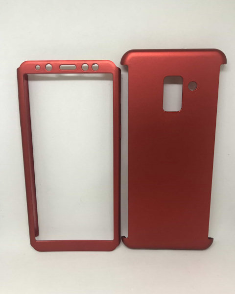 Husa 360 Plastic Red Samsung Galaxy A8 2018 0