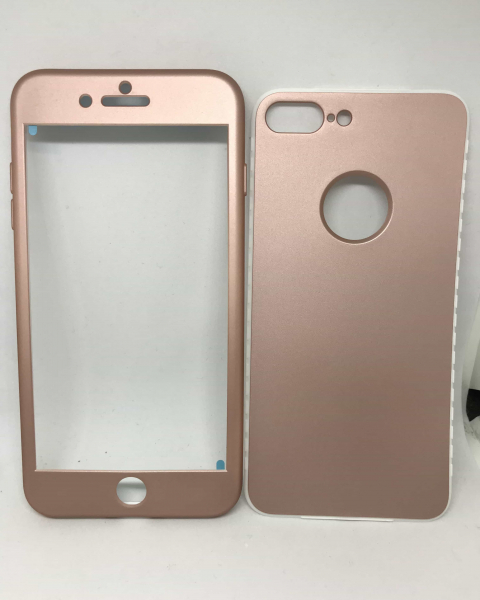 Husa 360 Silicon Rose Gold iPhone 7 Plus / iPhone 8 Plus 0