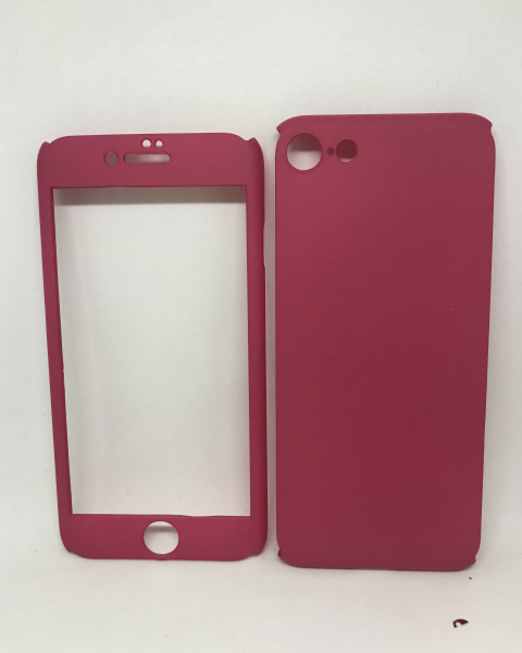 Husa 360 Plastic Roz iPhone 7 / iPhone 8 0