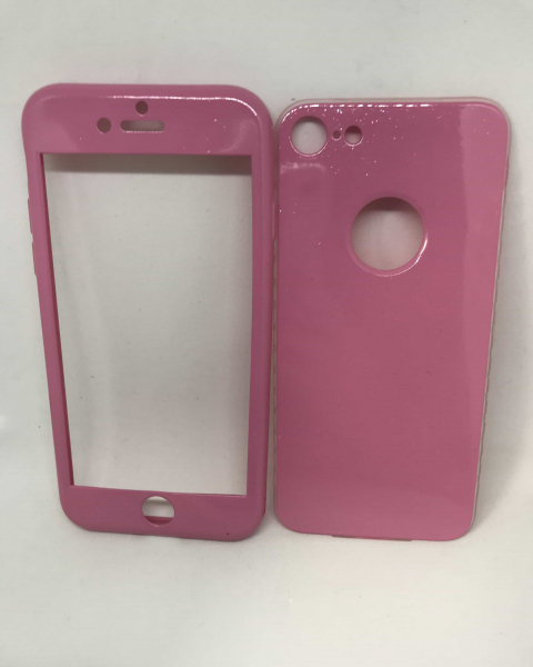 Husa 360 Silicon Roz iPhone 7 / iPhone 8 0