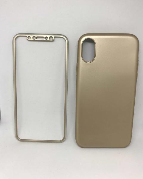 Husa 360 Silicon Gold iPhone X / XS 0