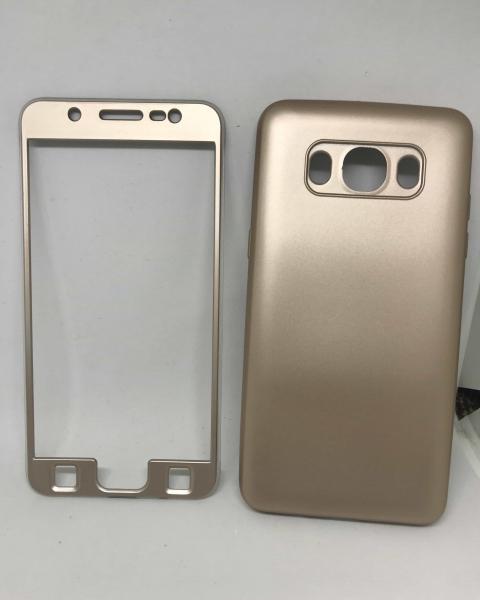 Husa 360 Silicon Gold Samsung Galaxy J5 2016 0