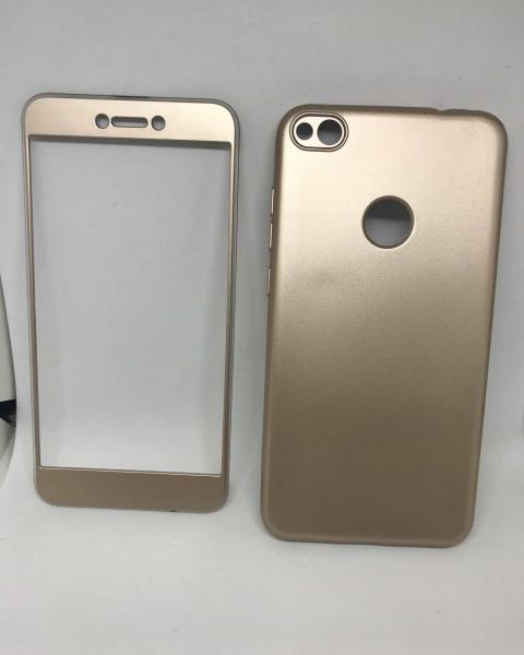 Husa 360 Silicon Gold Mat Huawei P8 Lite 2017/P9 Lite 2017 0