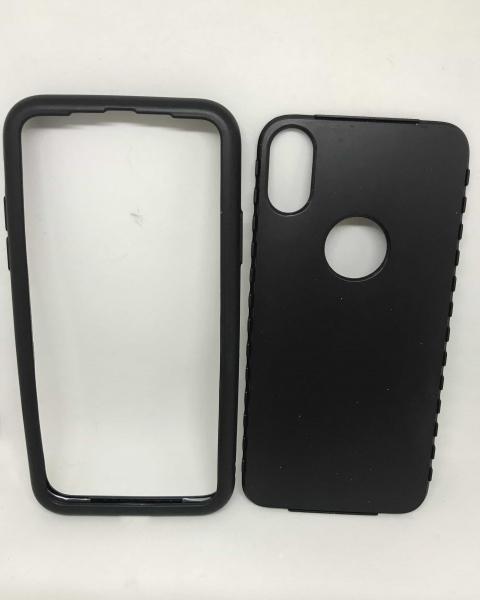 Husa 360 Silicon Black iPhone X / XS 0