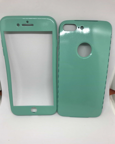 Husa 360 Silicon Verde Mint iPhone 7 Plus / iPhone 8 Plus 0