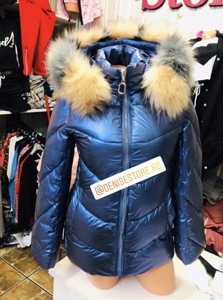 Geaca Blue Electric Fur [0]