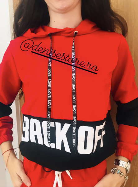 Hanorac Back Off Red [0]