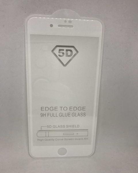 Folie de Sticla 5D White iPhone 7 Plus / iPhone 8 Plus 0