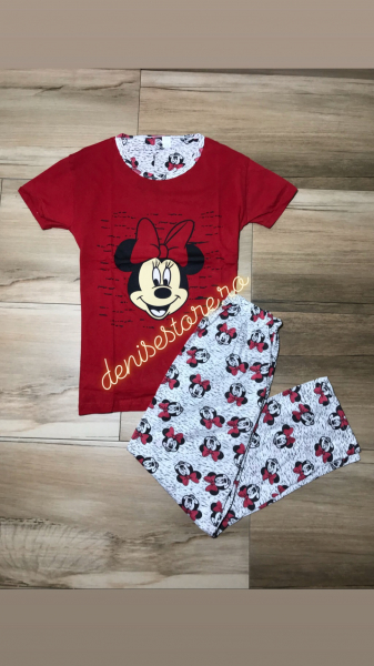 Pijama Minnie Red+Gray 0