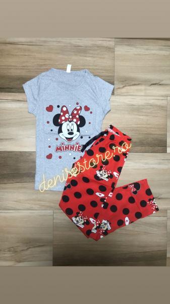 Pijama Minnie In Love Gray 0