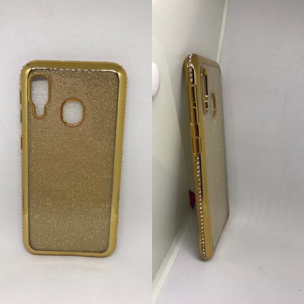 Husa Glitter Rhinestones Gold Samsung Galaxy A20e [0]