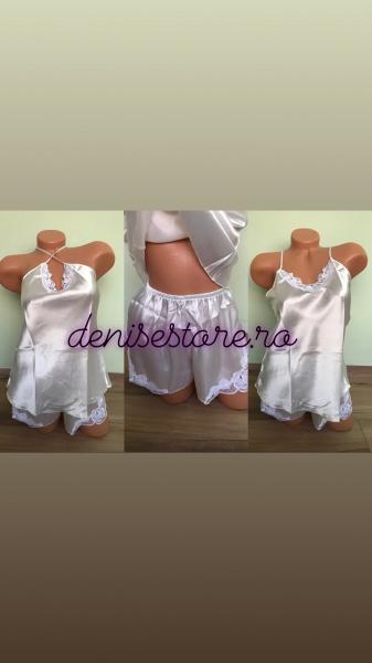 Pijama Satin White 0