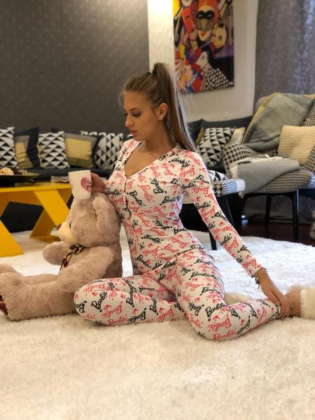 Salopeta Pijama Brbie White 0