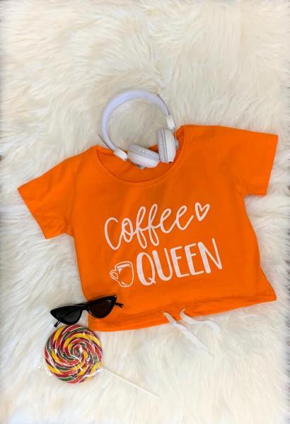 Tricou Coffee Queen Orange 0