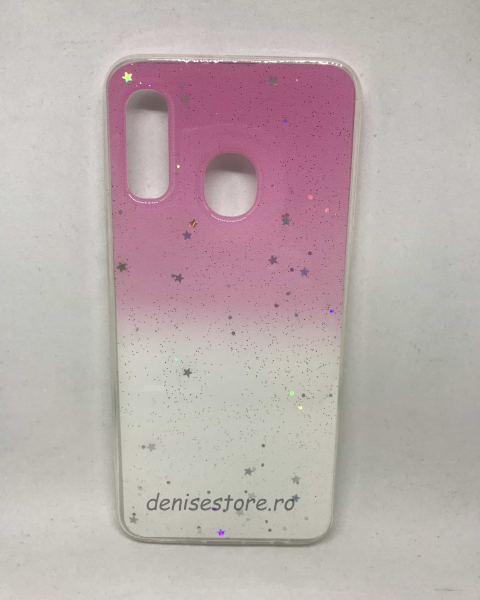 Husa Glitter Stars Pink Samsung Galaxy A20e [0]