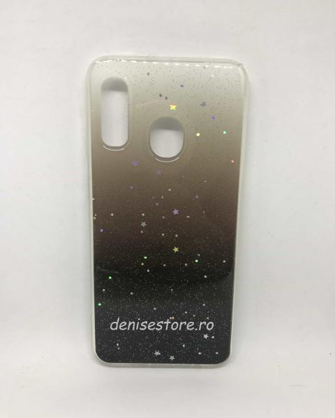 Husa Glitter Stars Black Samsung Galaxy A20e 0