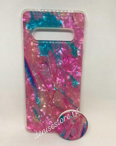 Husa + Phone Holder Abstract Samsung Galaxy S10 0
