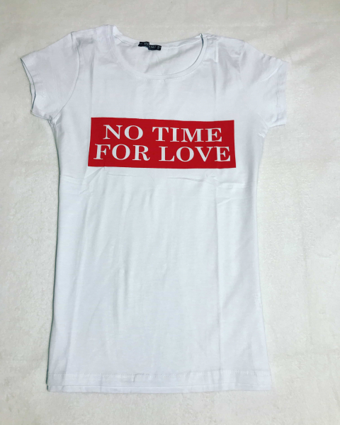 Tricou No Time For Love White 0
