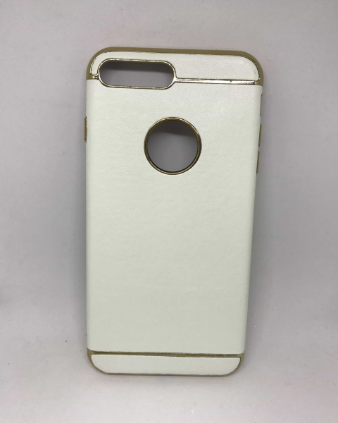 Husa Leather White iPhone 7 Plus / iPhone 8 Plus 0
