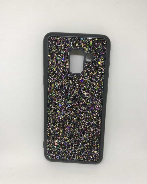 Husa Glitter Black II Samsung Galaxy A8 2018 0