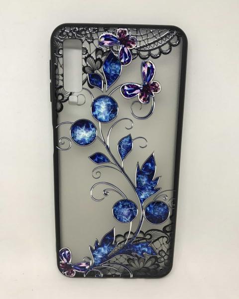 Husa Henna Black Blue Samsung Galaxy A7 2018 0