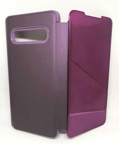 Husa Flip Clear View Mirror Purple Samsung Galaxy S10 0