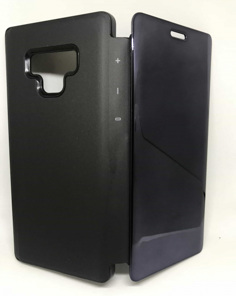 Husa Flip Clear View Mirror Black Samsung Galaxy Note 9 0