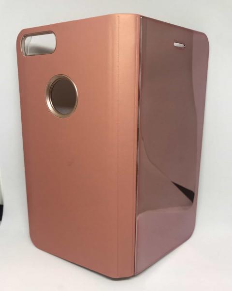 Husa Flip Clear View Mirror Rose iPhone 7 Plus / iPhone 8 Plus 0