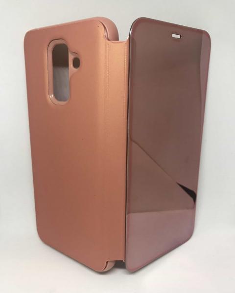 Husa Flip Clear View Mirror Rose Samsung Galaxy A6 Plus 2018 [0]