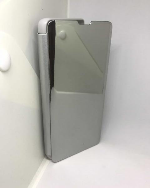 Husa Flip Clear View Mirror Silver Samsung Galaxy S10 Plus 0