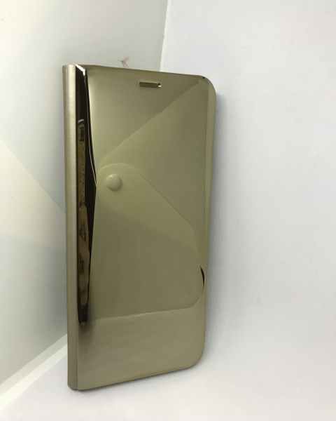 Husa Flip Clear View Mirror Gold Samsung Galaxy S8 1