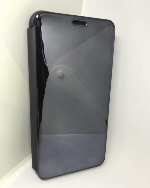 Husa Flip Clear View Mirror Black iPhone XS Max 1