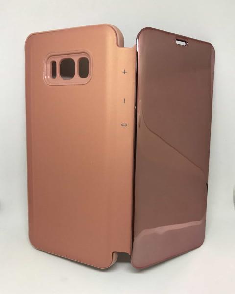 Husa Flip Clear View Mirror Rose Samsung Galaxy S8 Plus [0]