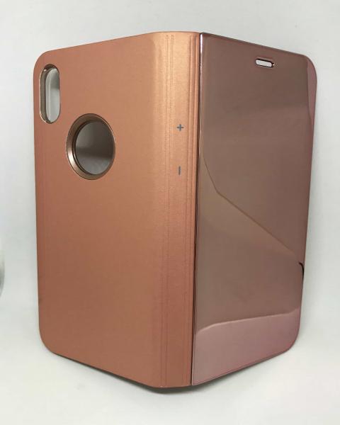 Husa Flip Clear View Mirror Rose iPhone X / XS 0