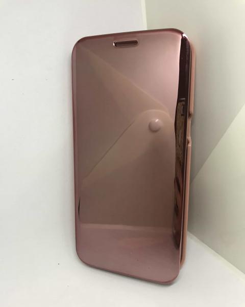 Husa Flip Clear View Mirror Rose Samsung Galaxy S7 Edge 1
