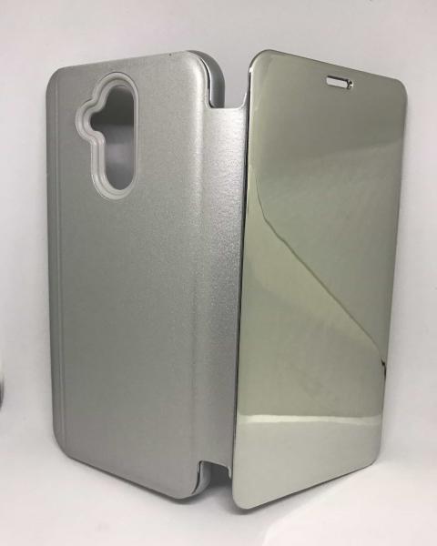 Husa Flip Clear View Mirror Silver Huawei Mate 20 Lite 0