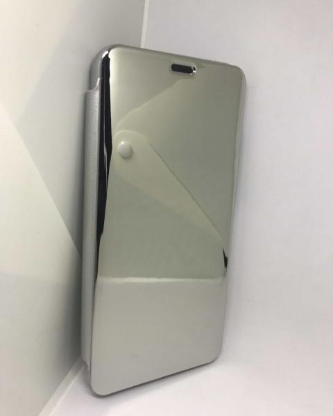 Husa Flip Clear View Mirror Silver Huawei Mate 20 Lite 1